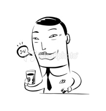 stock-illustration-1019412-japanese-salary-man-drinking-a-mix-of-beer